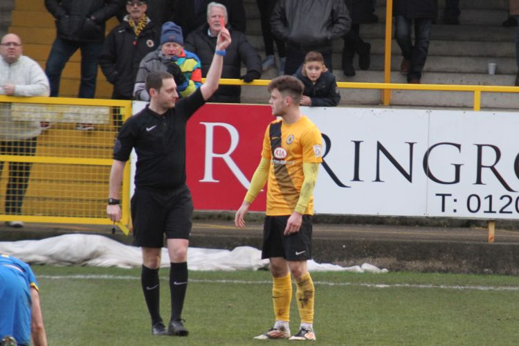 Reece Thompson red card