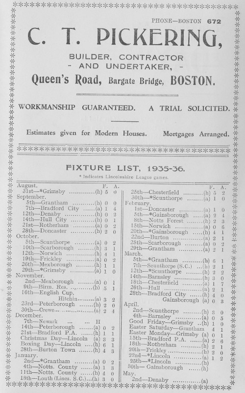 Programme Page 7 - 1935/6