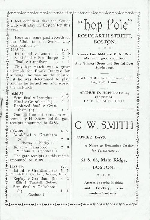 Programme Page 3 - 1945/6