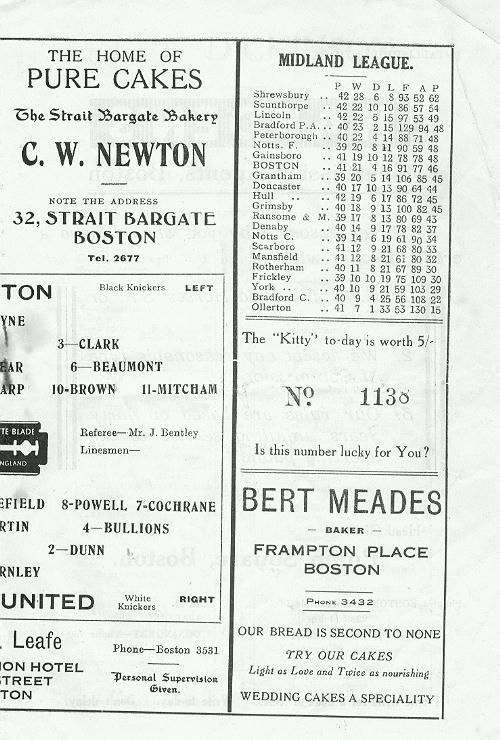 Programme Page 5 - 1947/8