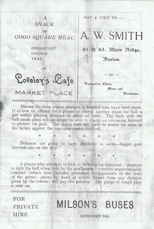 Programme Page 3 - 1948/9