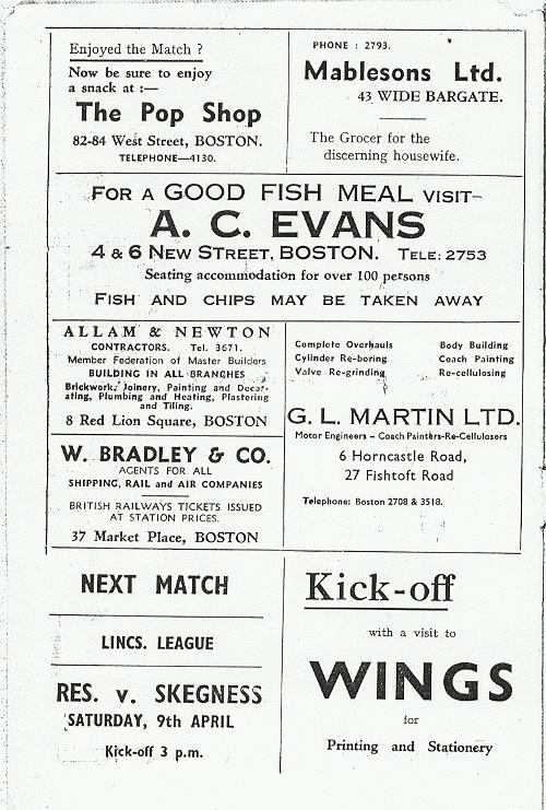 Programme Page 2 - 1954/5
