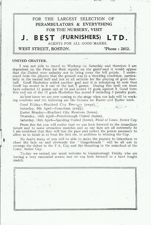 Programme Page 3 - 1954/5