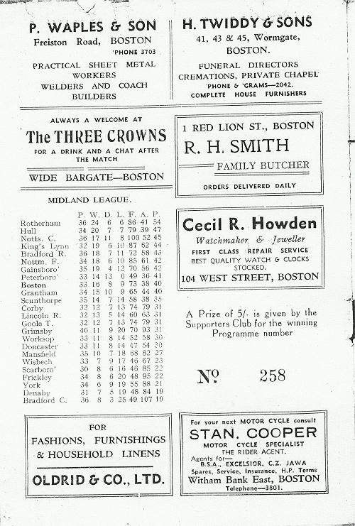 Programme Page 8 - 1954/5