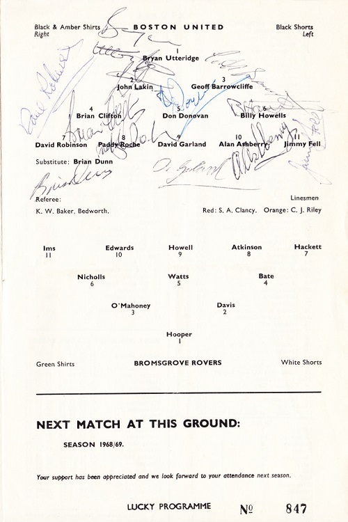 Programme Page 3 - 1967/8