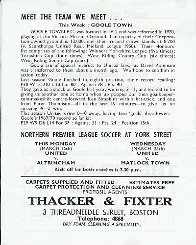 Programme Page 14 - 1969/70