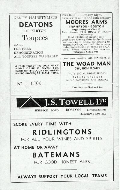 Programme Page 12 - 1973/4
