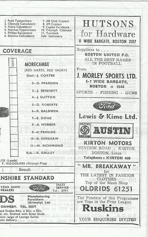 Programme Page 7 - 1974/5
